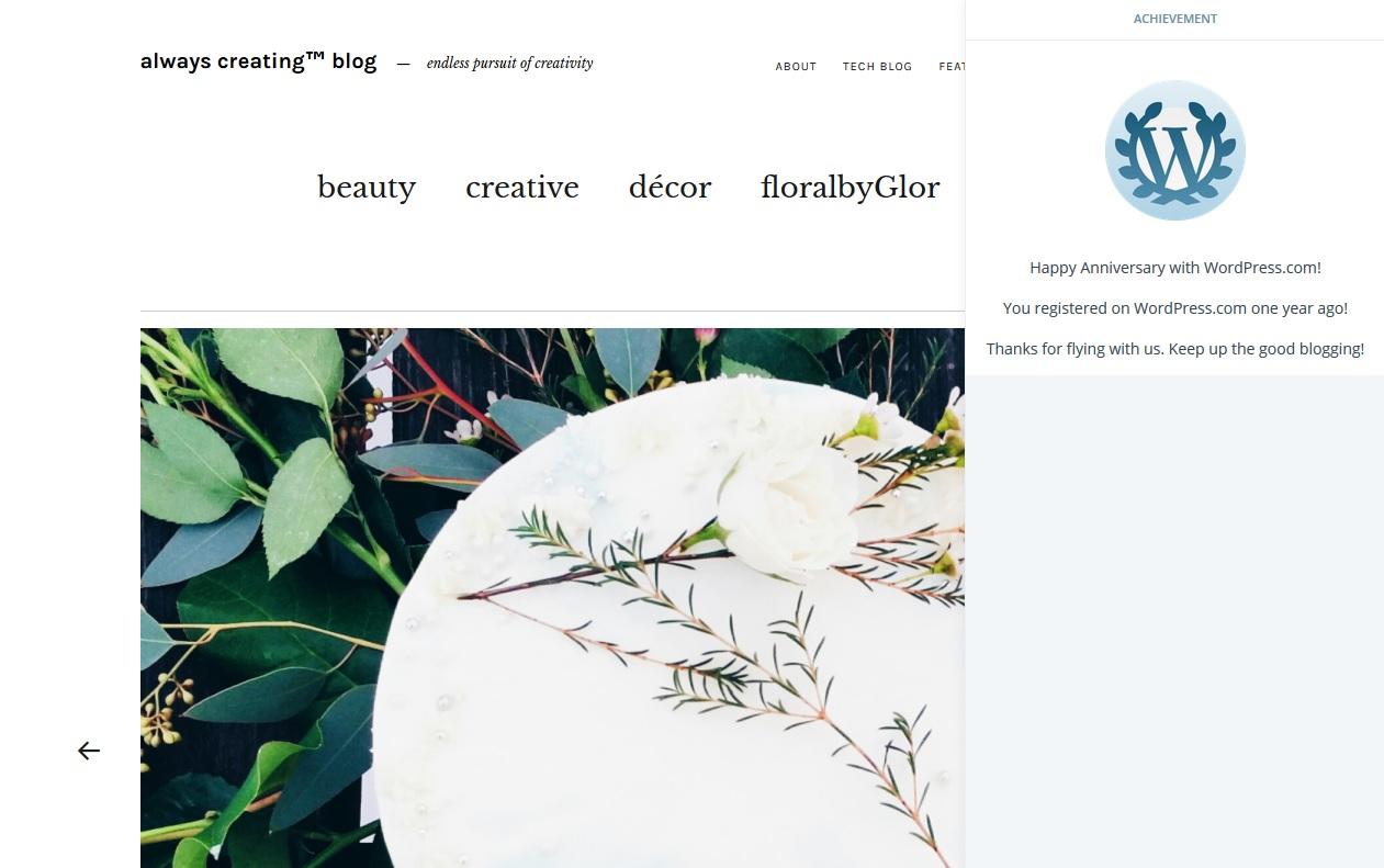 Always Creating™ Blog // happy 1-year blog anniversary!