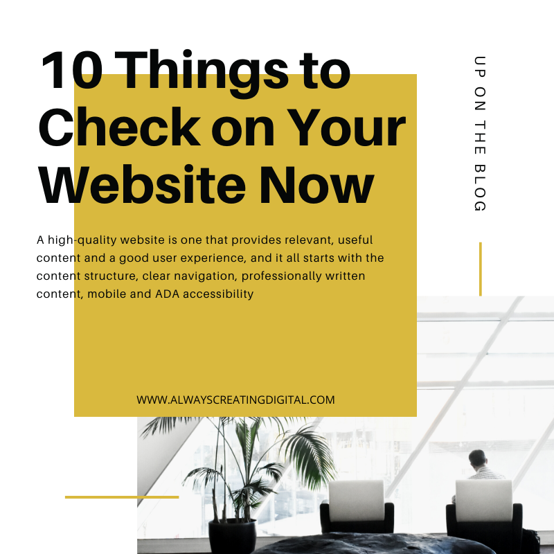 10 Things to Check on Your Website Now