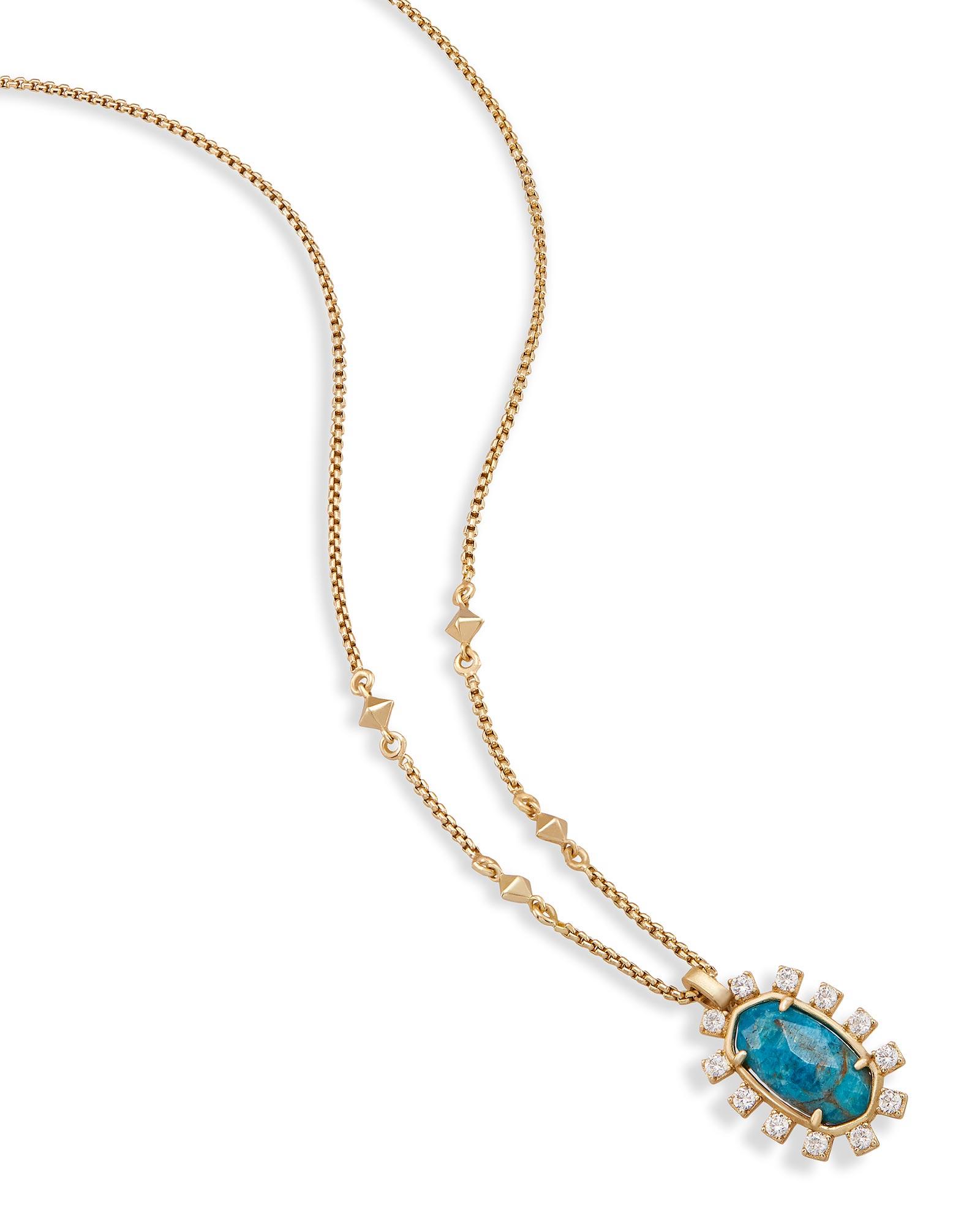 Brett Pendant Necklace in Aqua Apatite