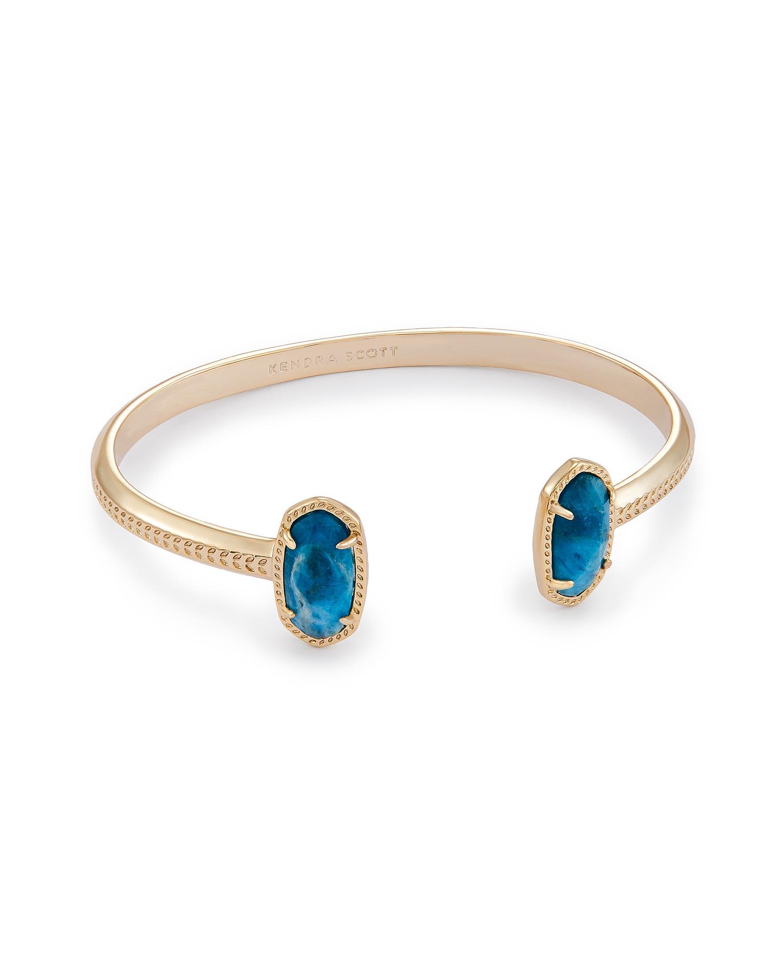 Elton Pinch Bracelet in Aqua Apatite