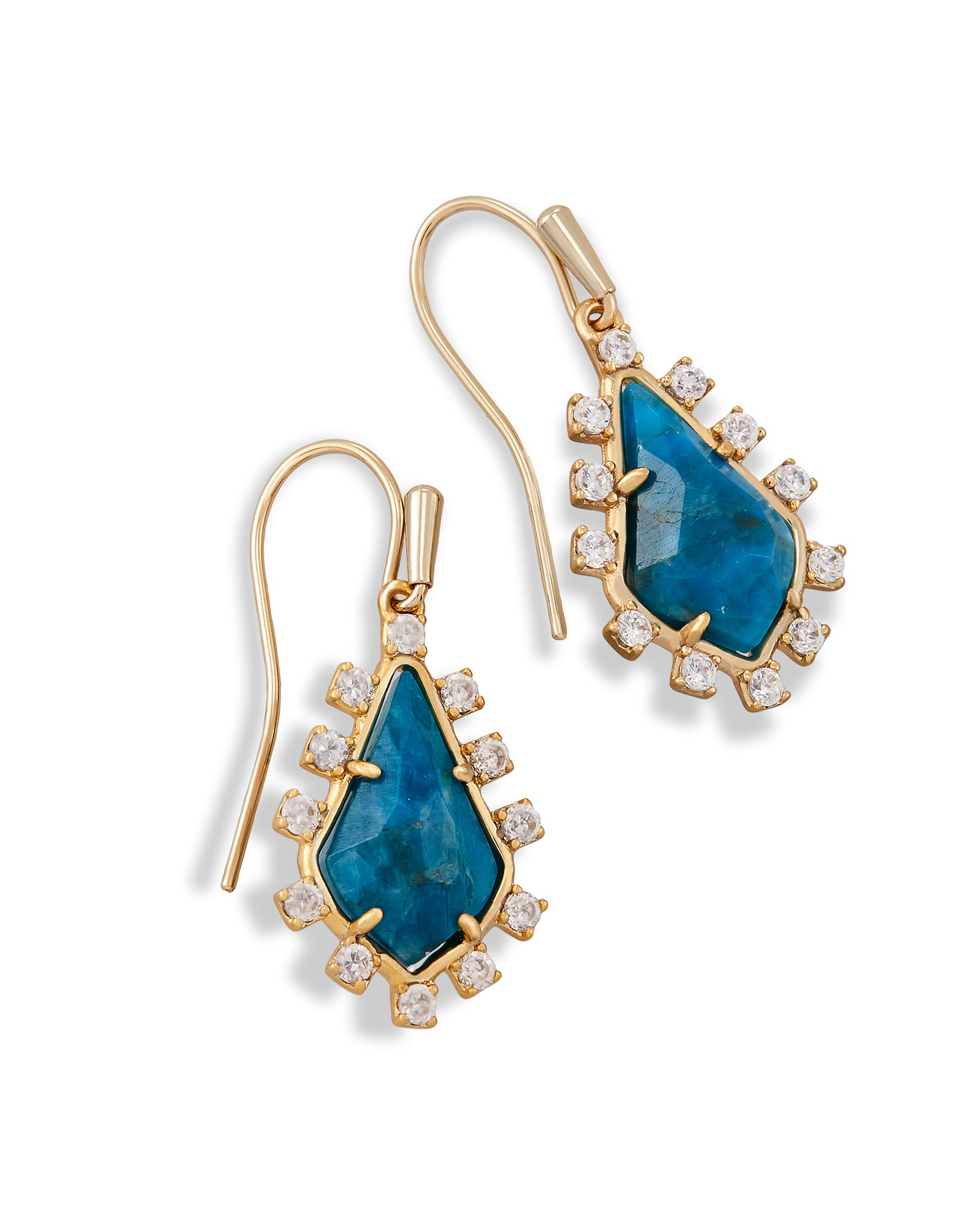 Juniper Drop Earrings in Aqua Apatite