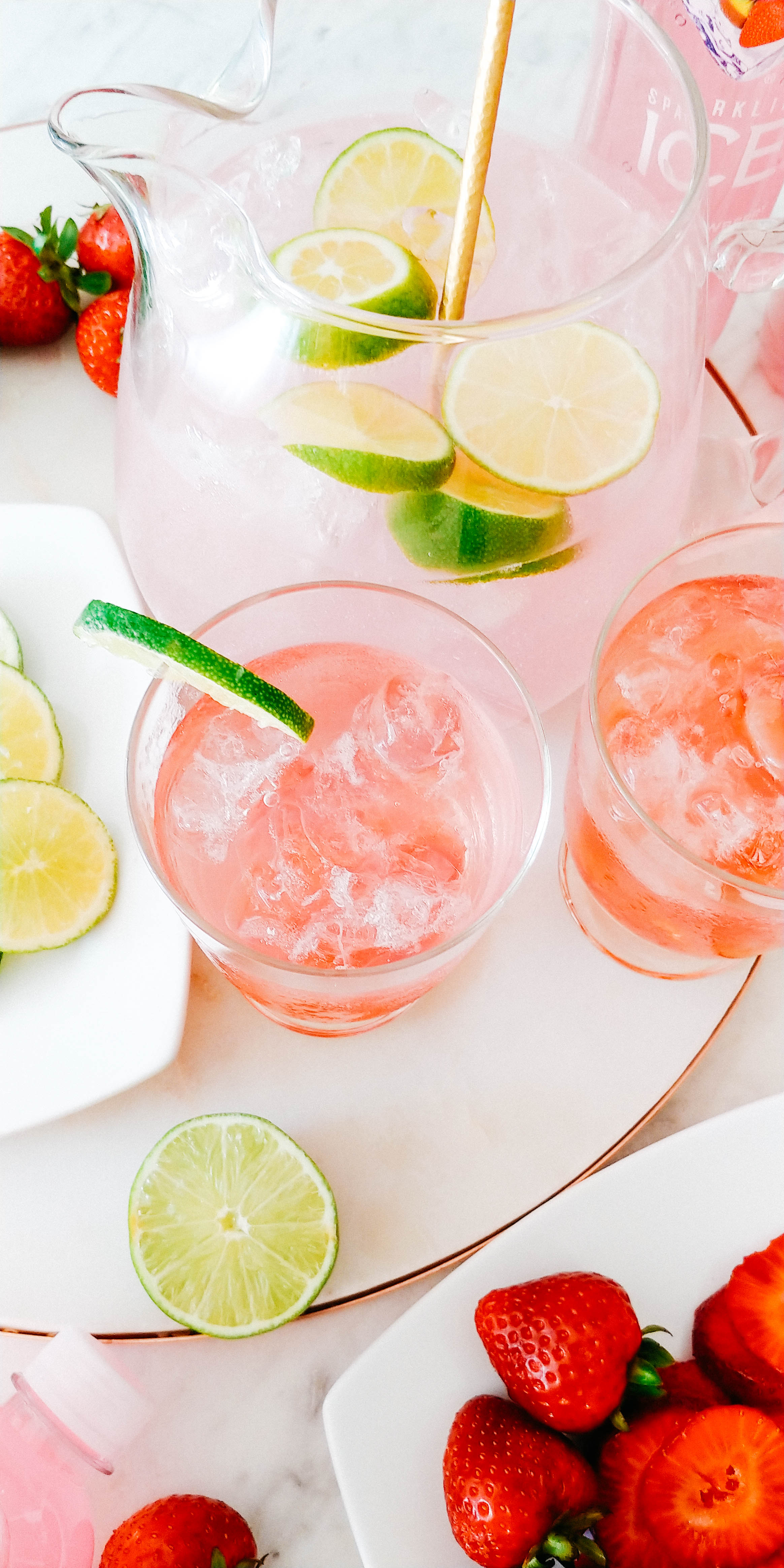 Always Creating Blog x Sparkling ICE - Easy Summer Cocktail – Sparkling ICE Strawberry Kiwi Prosecco Punch