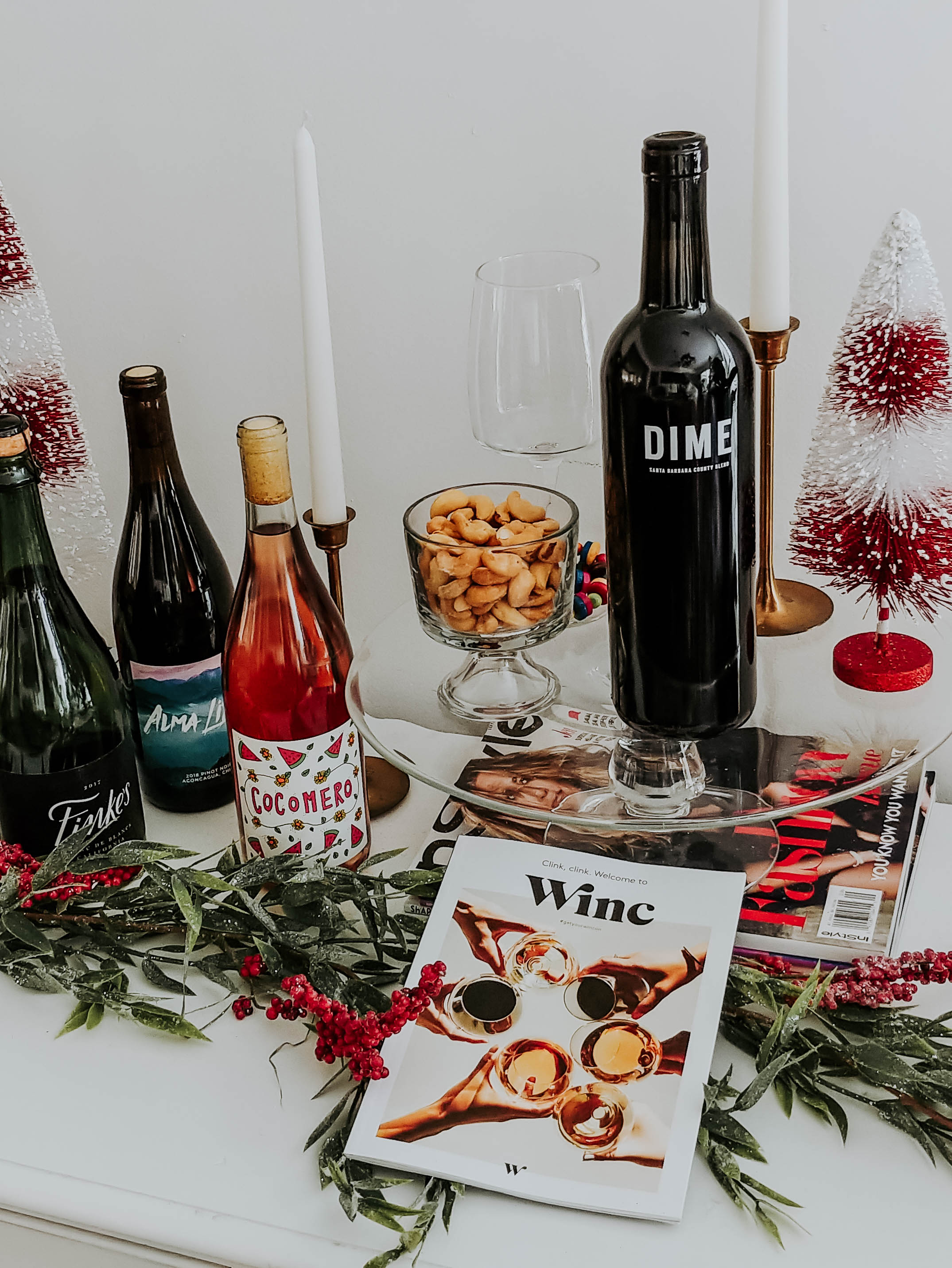 Image of different bottles of wine from winc.com.