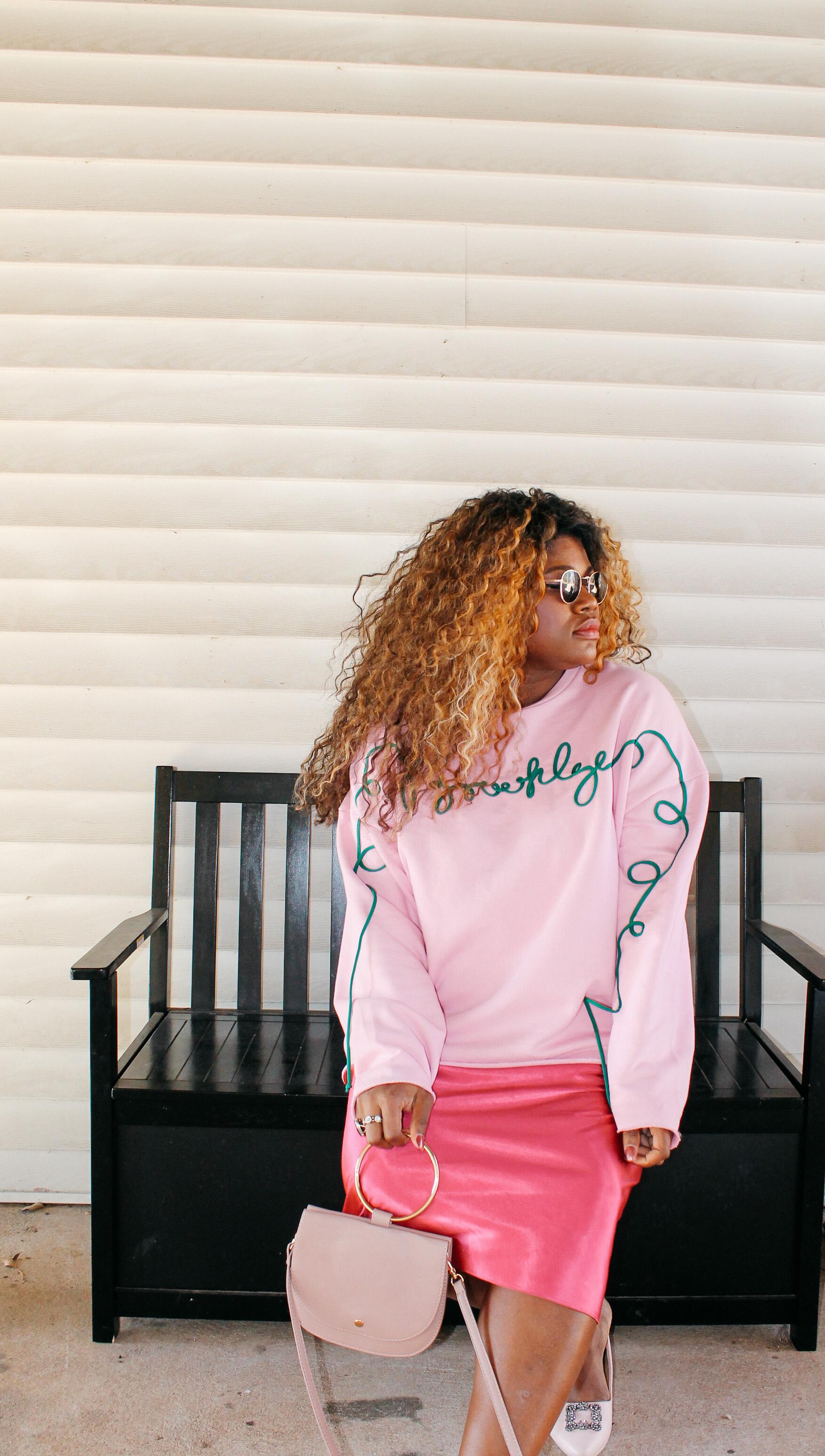 {Always Creating Blog //Pink on Pink #OOTD // Valentine's Day}