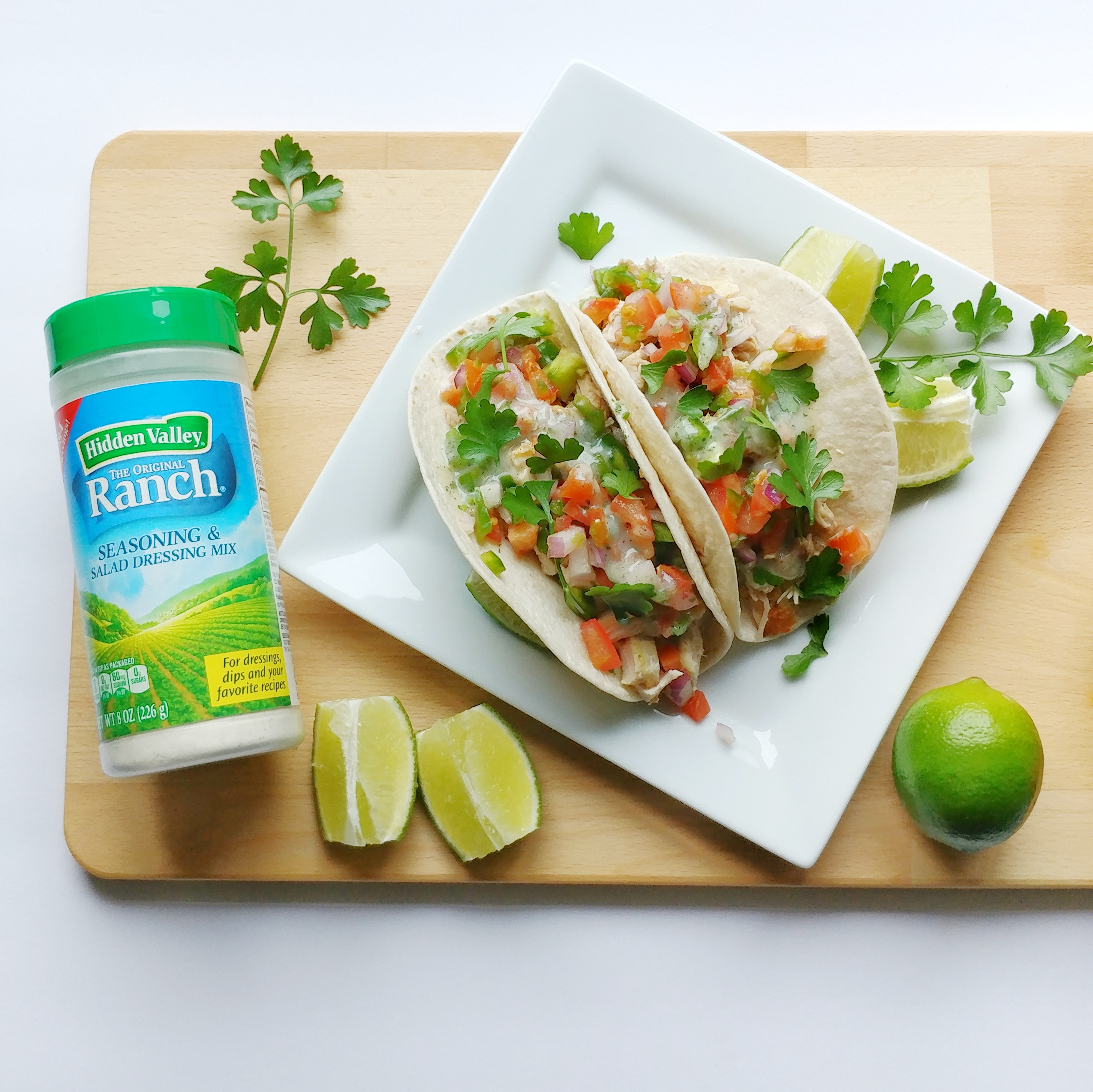 Super Easy Weeknight Chicken Tacos   Hidden Valley Ranch