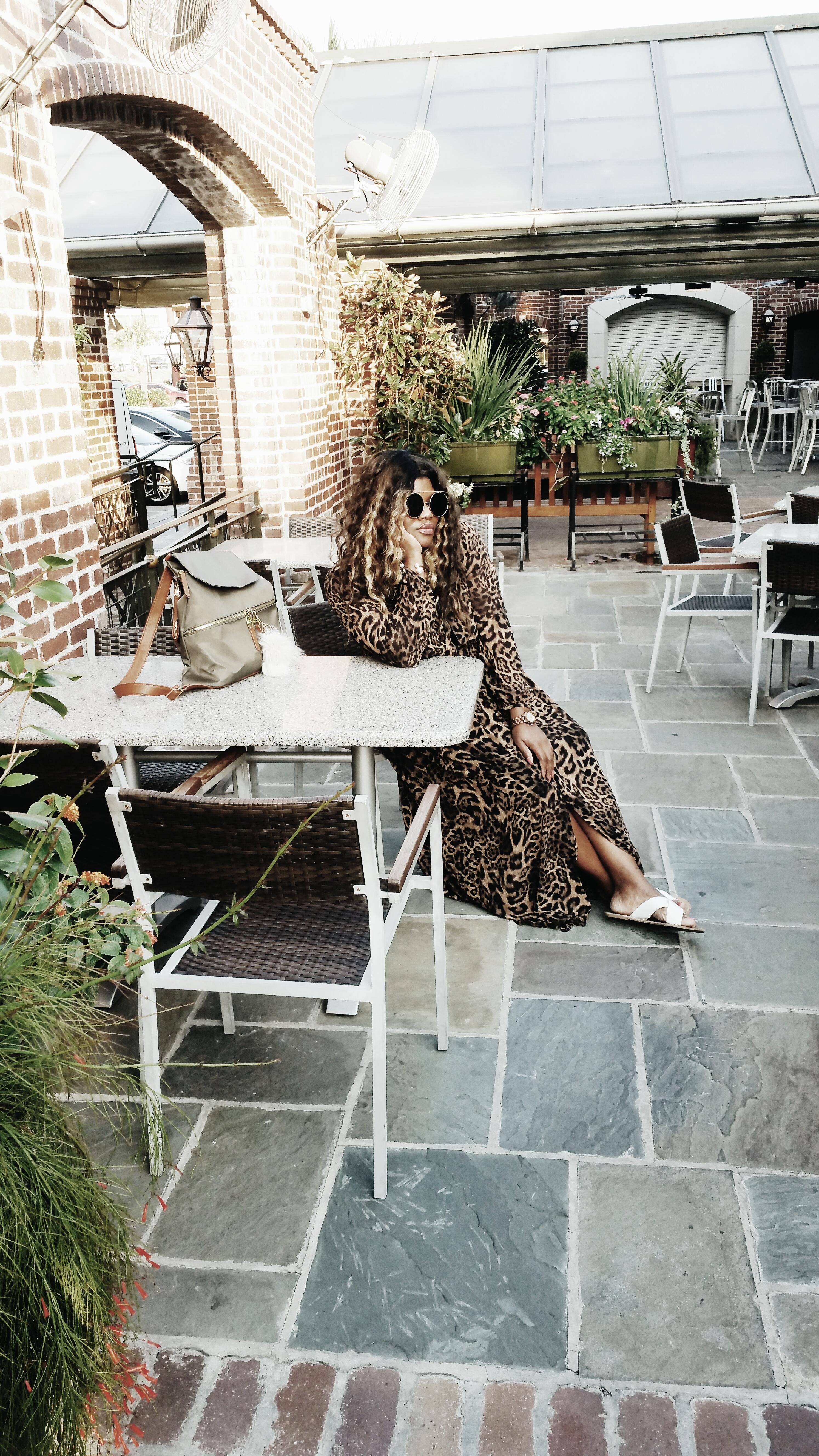 Michael Kors Leopard Print Maxi Dress
